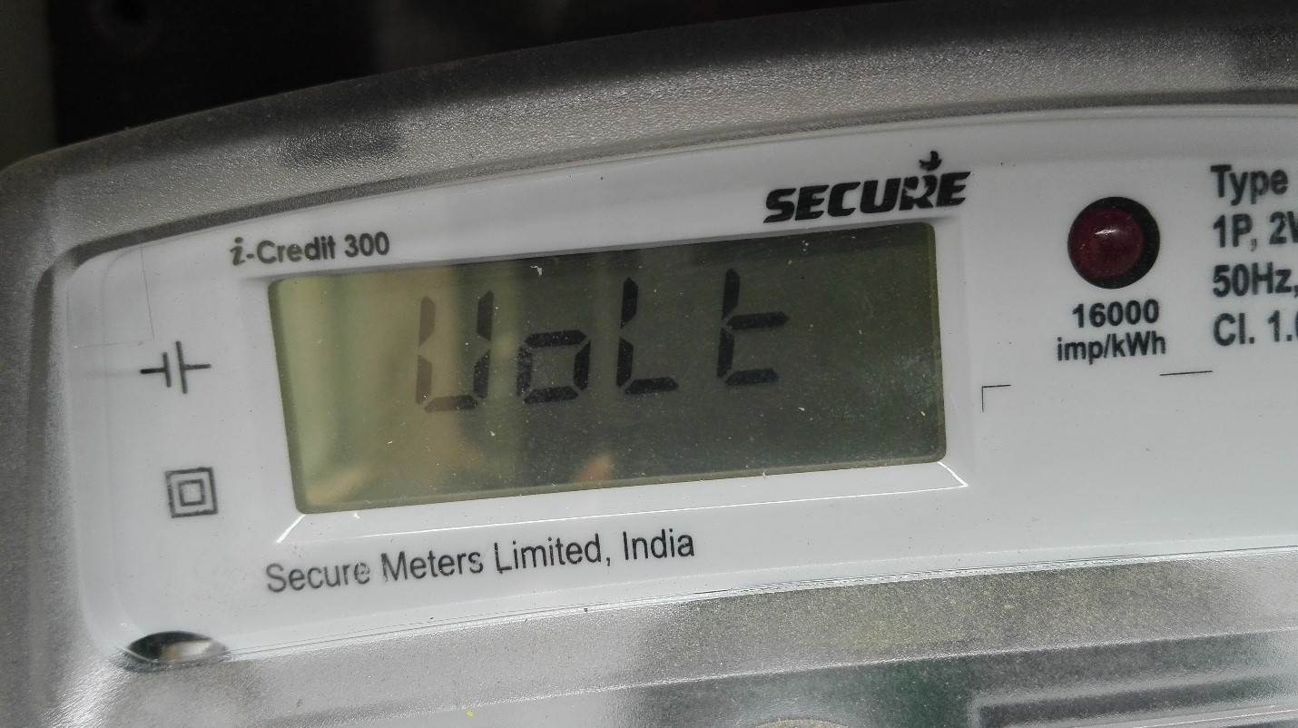 How To Read A Bidirectional Meter Ecosoch Solar Photovoltaic Wiring Diagram Next Display Is The Current Voltage Of Grid And It Always In Range 230v 240v Indian