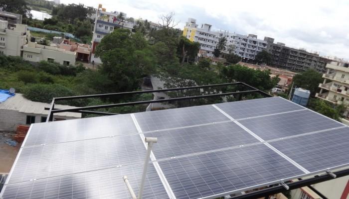 3kw On Grid Solar System Hebbagodi Ecosoch Solar