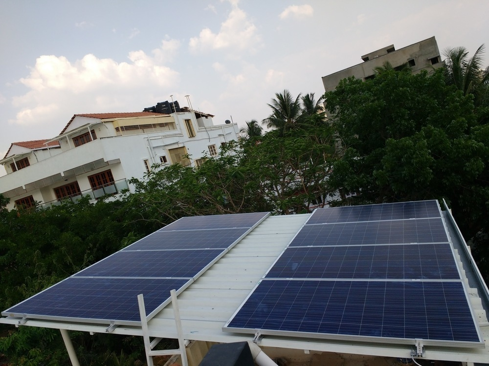 6kw On Grid System New Bel Bangalore Ecosoch Solar