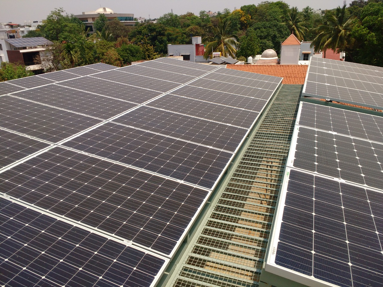 Solar Rooftop For Homes Commercial Ecosoch Panel With Corrugated Thin Film Cells On Wiring Panels In Prabhakar Reddy