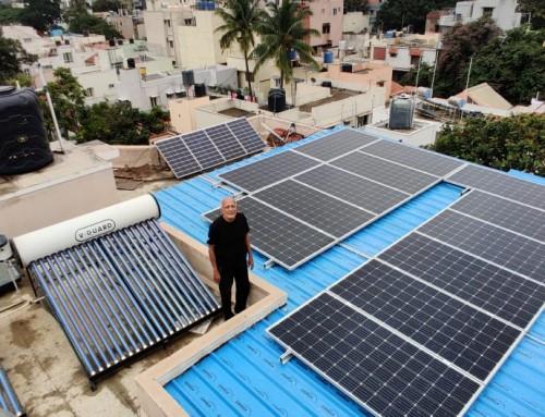 7 kWp OnGrid Solar Rooftop System- Mr. Oscar, Bangalore
