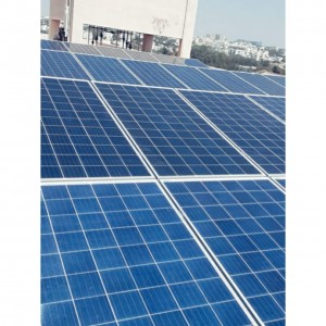 Solar panels installed on top of logistic company.
