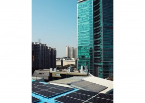 Solar Panels on the rooftop