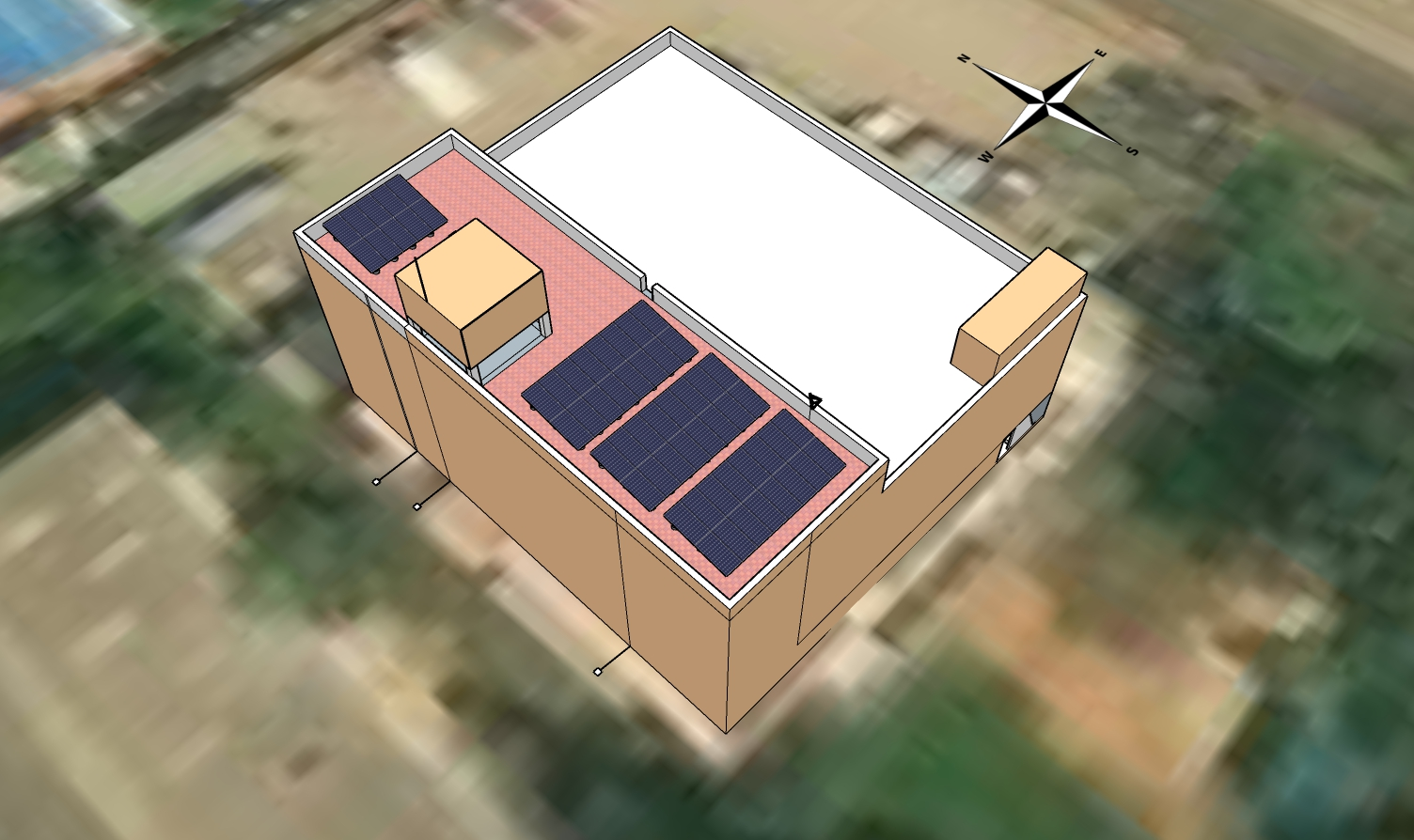 3-D model prepared on SketchUp