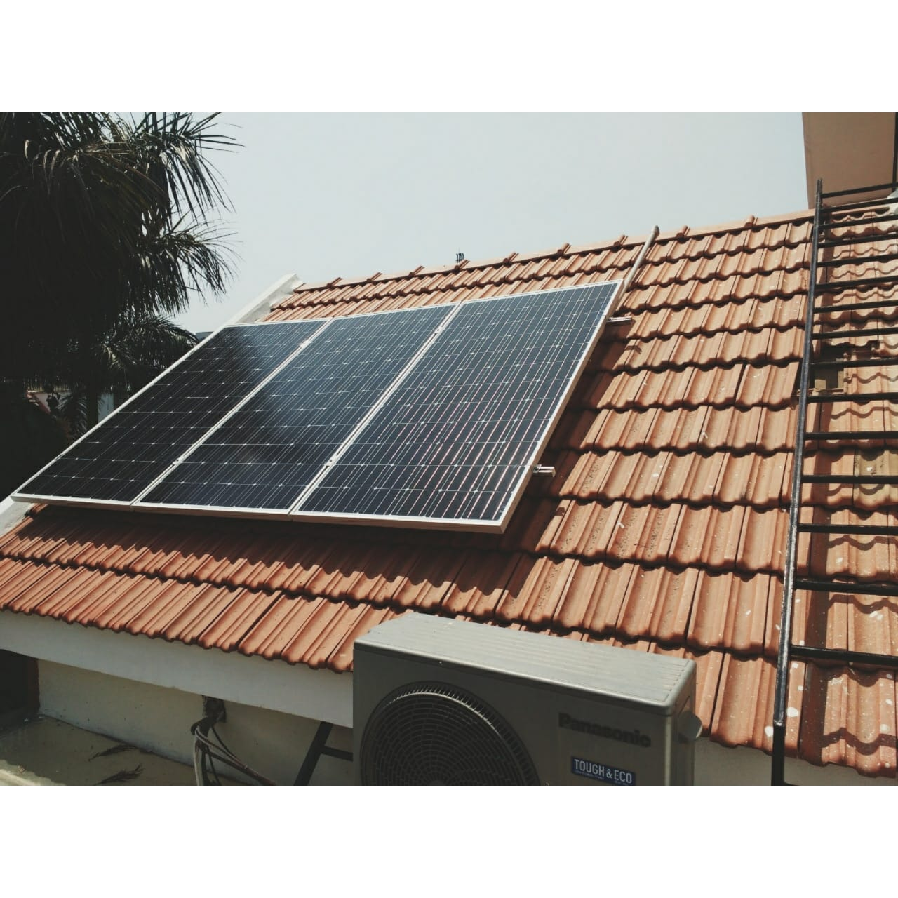 Installation on tile roof