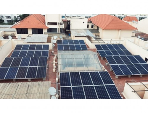 Solar Plant at Gopalan Habitat Apartment
