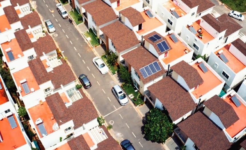 Villa community installs solar