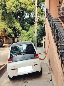 Electric Vehicle being charged at site